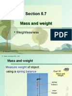 Section 5.7 Mass and Weight