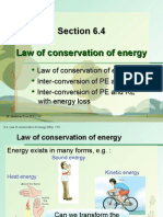 Section 6.4 Law of Conservation of Energy