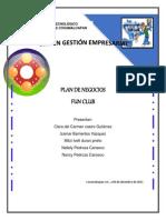 Plan de Negocios(Fun Club)