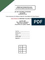 05S ME304 MT1 Solutions