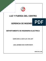 LFC ING 057 Especificacion
