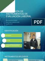 Aplicación de instrumentos de evaluación laboral ppt