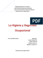 Trabajo La Higiene y La Seguridad Ocupacional Jamin Escalona