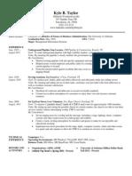 resume spring 2014