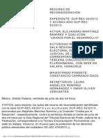 SUP-REC-49_2013 (Principio Pro Persona, Control de Convencionalidad)