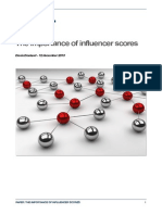 The Importance of Influencer Scores