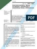 ABNT NBR 13963 - Moveis Para Escritorio - Moveis Para Desenho - Classificacao E Caracteristicas F