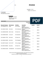 FBI DITU Invoice to Microsoft