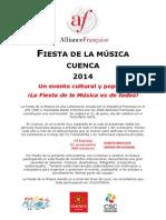 Convocatoria pública Fiesta de la Música 2014