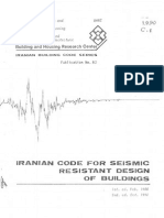 IRANIAN CODE FOR SEISMIC RESISTANT DESIGN OF BUILDINGS