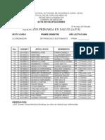 Formato de Actas de Notas