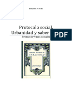 Tema 11. Protocolo Social. Saber Estar y Urbanidad