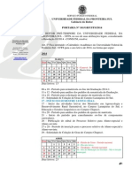 Portaria 161GRUFFS2014 - Institui o Calendrio Acadmico 2014