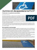 Reportaje sobre Discapacidad en la PUCP
