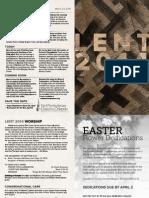 03.23.14 Genesis Bulletin | First Presbyterian Church of Orlando