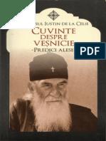 Sf. Iustin Popovici - Cuvinte despre veşnicie