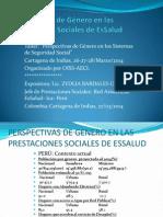 Perspectiva de Genero en Las Prestaciones Sociales ESSalud 2014