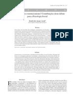 Arendt, R J J - Construtivismo ou construcionismo. Contribuições deste debate para a Psicologia Social