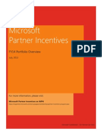 Microsoft Partner Incentives - FY14 Portfolio Overview