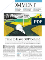 Time to leave GDP behind