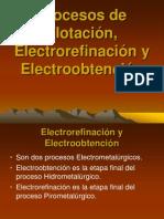 Procesos de Flotaci+¦n, Electrorefinaci+¦n y Electroobtenci+¦n 1