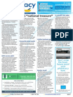 "Pharmacy Daily for Fri 21 Mar 2014 - PBS ""national treasure\"", Consumers win from PD, Favourite pharmacist, Letter to the editor and much more"