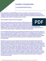 GARCIA,2007. Transversalidade E Interdisciplinaridade