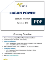 ERGON POWER S a C - Company Overview - November 2013