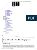 Foundations for Metal Buildings