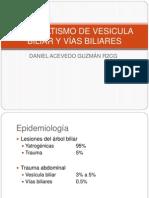 traumatismo de vesicular biliar y vias biliares