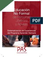 Educacion No Formal de Personas Jovenes y Adultas