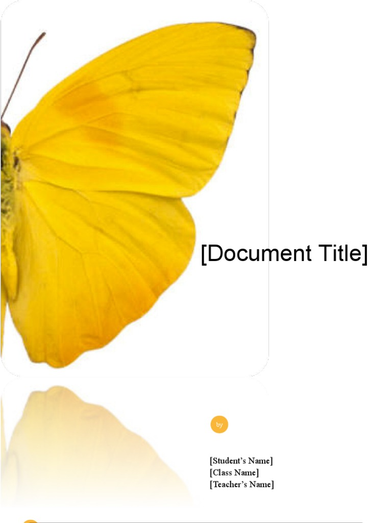 School Project/Report Template   Butterfly Design (Word) | Microsoft Word |  Text  Microsoft Word Templates For Reports