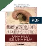 Christie Agatha - Una Hija Es Una Hija