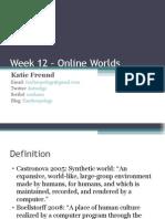 DIGC101 Online Worlds