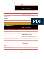 Character Profile Spreedsheet