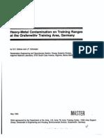Heavy Metal Contamination-Training Ranges - XRF