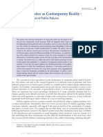 Community Justice as Contemporary Reality Bases for an Analysis of Public Policies