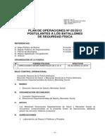 Plan de Operaciones Nº 05-2013 -Postulantes Seguridad Física-2013