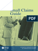 Small Claims Guide