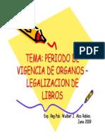 Periodo Vigencia Organos Legalizacion Libros