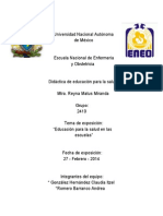 EDUCACIÓN PARA LA SALUD EN ESCUELAS - 2410