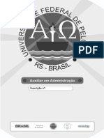 Prova UFPEL - Auxiliar Em Adm. 2013