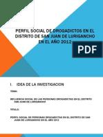 Perfil Social de Personas Drogadictas en El Distrito