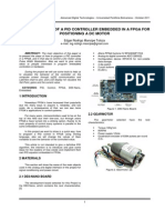 Implementation of a Pid Controller Embedded in a Fpga for Positioning a Dc Motor