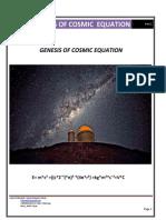 Genesis of Cosmic Equation - Part 1 First Edition. English language