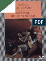 Cioran, E. M. - Breviario de Los Vencidos [1515] (r1.0 Jlmera)
