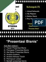 Bab Presentasi Bisnis - MK Komunikasi Bisnis