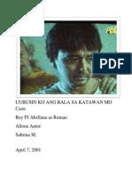 Uubusin Ko Ang Bala Sa Katawan Mo