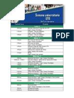 Agenda Semana Universitaria