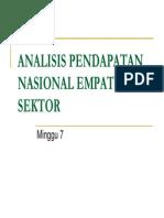 Sep 204 Slide Minggu Ke - 07 - Analisis Pendapatan Nasional Empat Sektor